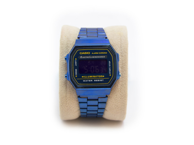 ساعت casio a168 رنگ آبی